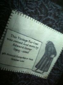 Edward Gorey coat (label)