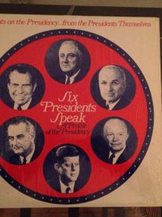 Six Presidential Speeches