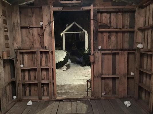 Winter Shack interior exterior