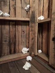 "Corina Kennedy's installation ""Sugar Shack"""