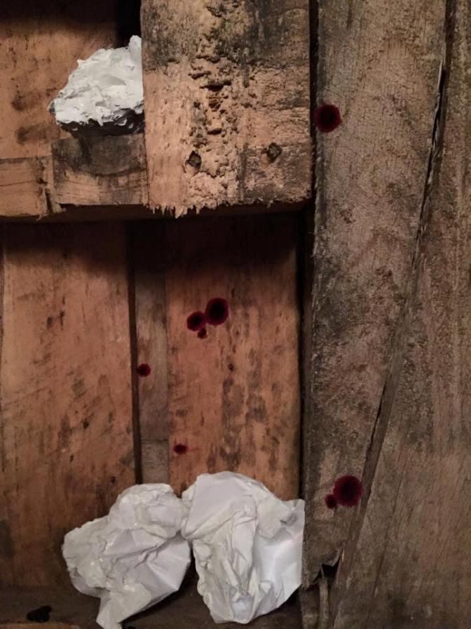 "Corina Kennedy's installation ""Sugar Shack"""
